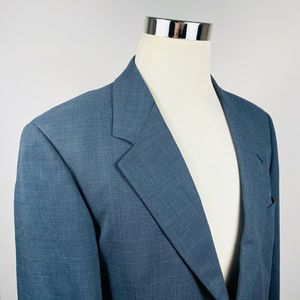 Hugo Boss 40R Galilei Omega Sport Coat Blue Wool